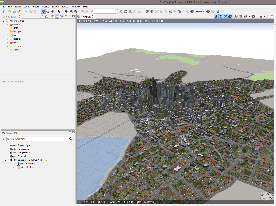 Esri CityEngine, Unity 4.0 and the Oculus Rift