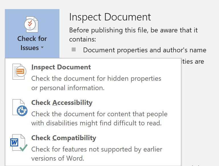 Navigating to the Accessibility Checker